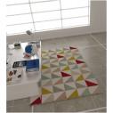 Triangular scandinavian style rug