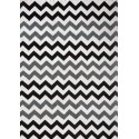 Tapis scandinave zigzag noir et gris