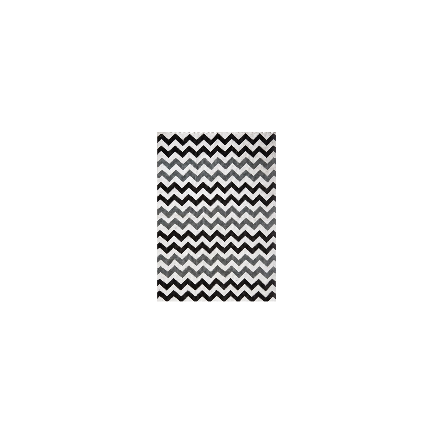 tapis scandinave zigzag noir et gris. Black Bedroom Furniture Sets. Home Design Ideas