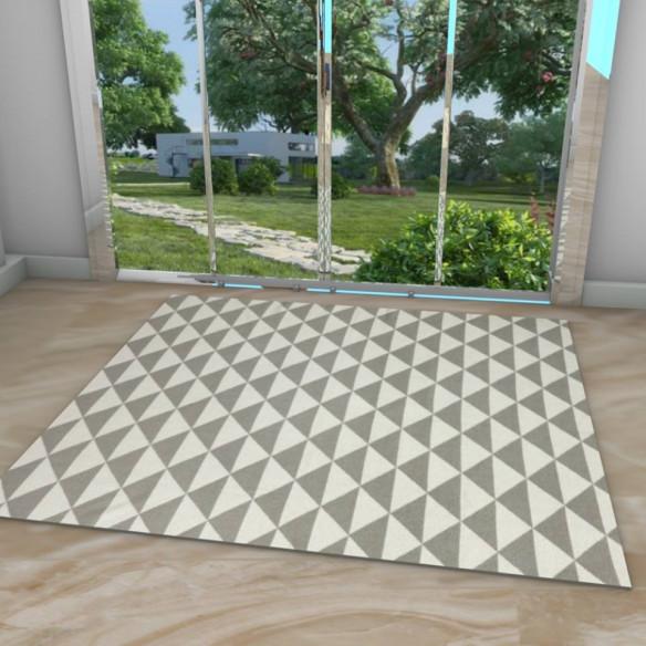 Tapis Blanc Et Gris : tapis scandinave blanc et gris ~ Melissatoandfro.com Idées de Décoration
