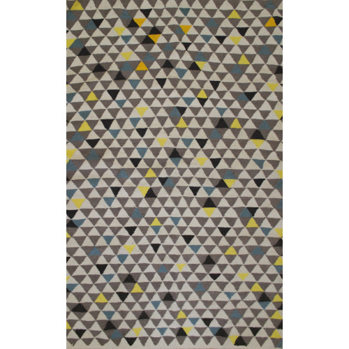 Tapis Scandinave triangulaire coloré