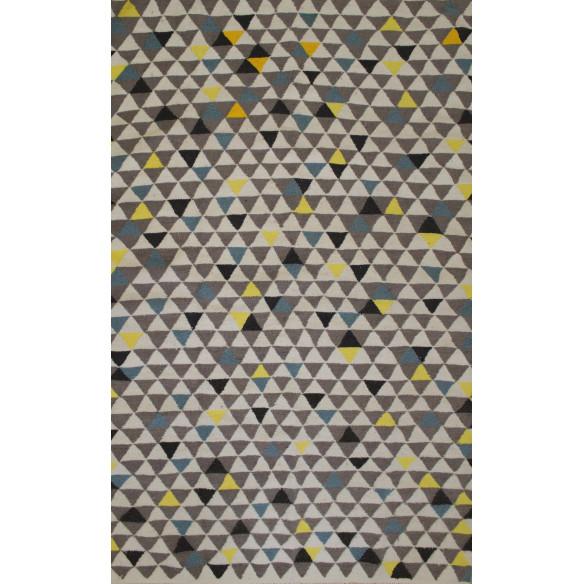 Tapis Scandinave triangulaire coloré