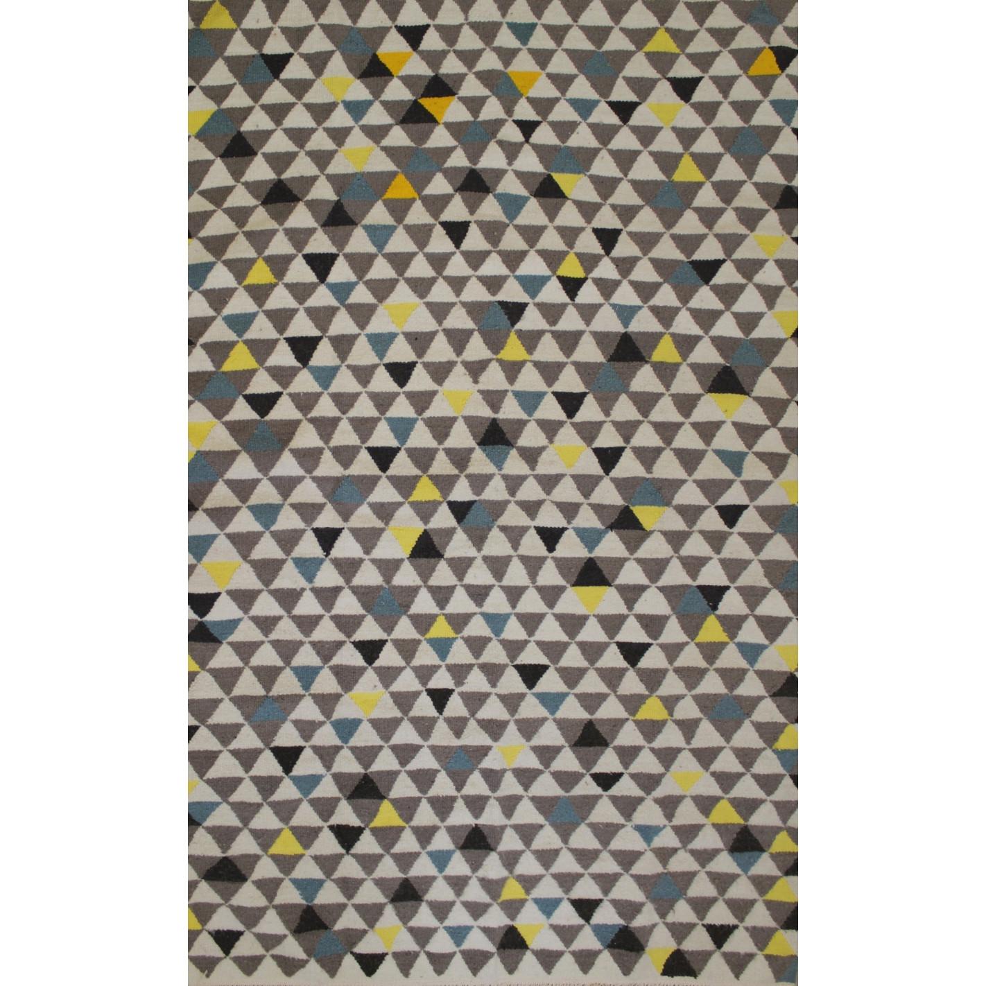 tapis blanc motif nuance bleu. Black Bedroom Furniture Sets. Home Design Ideas