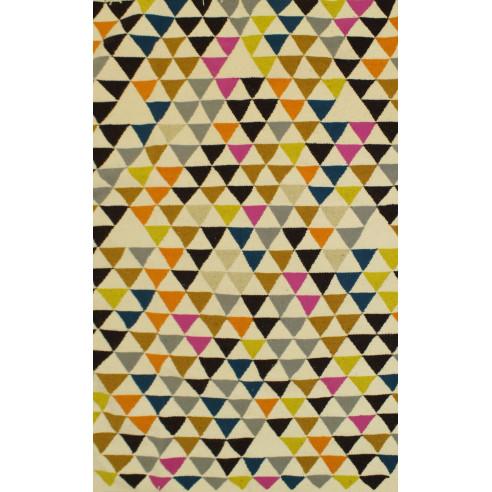 tapis style scandinave triangulaire m lange de couleurs margoom. Black Bedroom Furniture Sets. Home Design Ideas