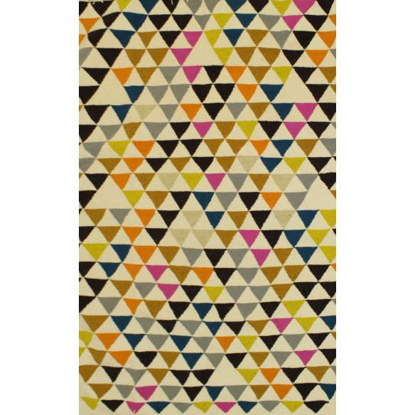 Tapis style scandinave triangulaire mélange de couleurs