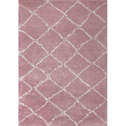 Tapis berbère rose