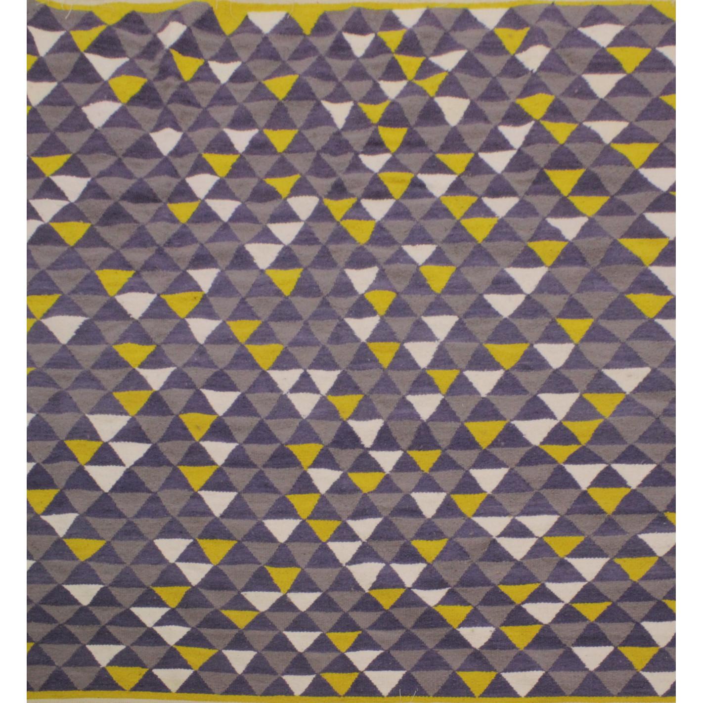 Tapis scandinave motifs triangles gris et jaune - Motif scandinave a imprimer ...