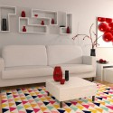 Tapis style scandinave multicolore
