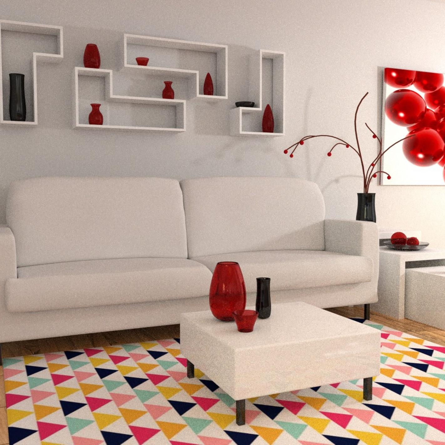 tapis scandinave multicolore. Black Bedroom Furniture Sets. Home Design Ideas