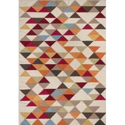 tapis kilim triangle multicolor - Tapis Kilim
