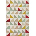 Tapis scandinave triangulaire