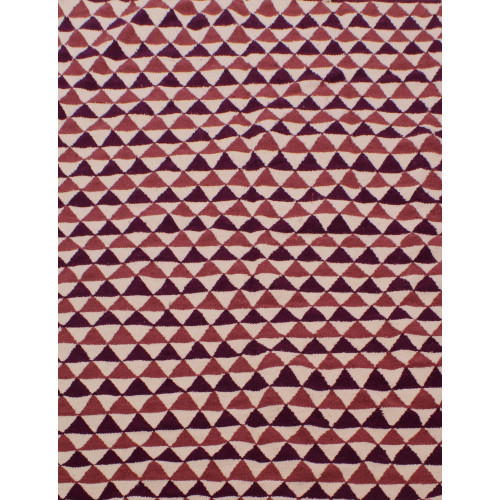 Tapis style scandinave triangulaire rose et violet