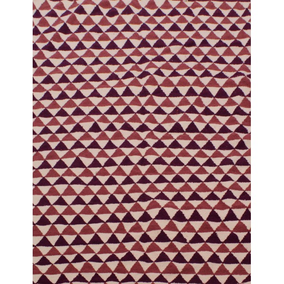 Tapis scandinave triangulaire rose et violet