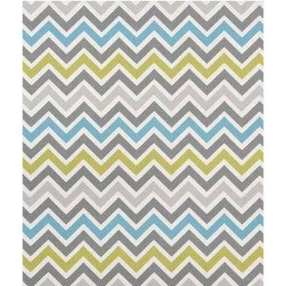 Tapis style scandinave zigzag bleu ciel