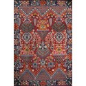 tapis multicolore rouge