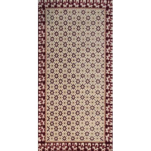 tapis laine rouge bordeaux et beige. Black Bedroom Furniture Sets. Home Design Ideas