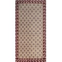red and burgundy red wool rug