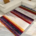 tapis kilim jaune rayé en bleu