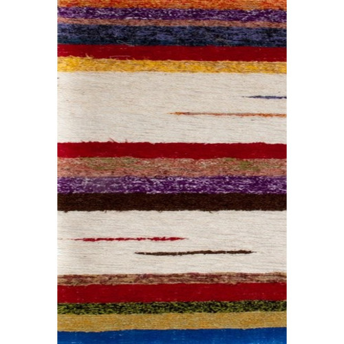 tapis kilim marron moucheté