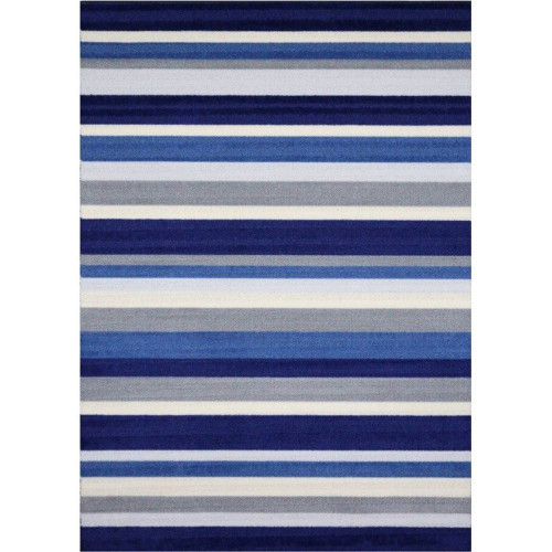 tapis kilim ray nuance bleu 100 artisanal. Black Bedroom Furniture Sets. Home Design Ideas