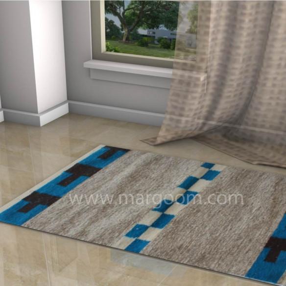 Tapis kilim margoom motif bleu