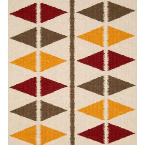 Tapis En Laine Multicolore Avec Triangle