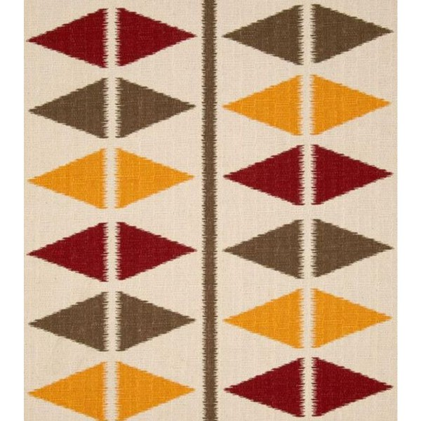 Tapis kilim contemporain multicolore triangulaire