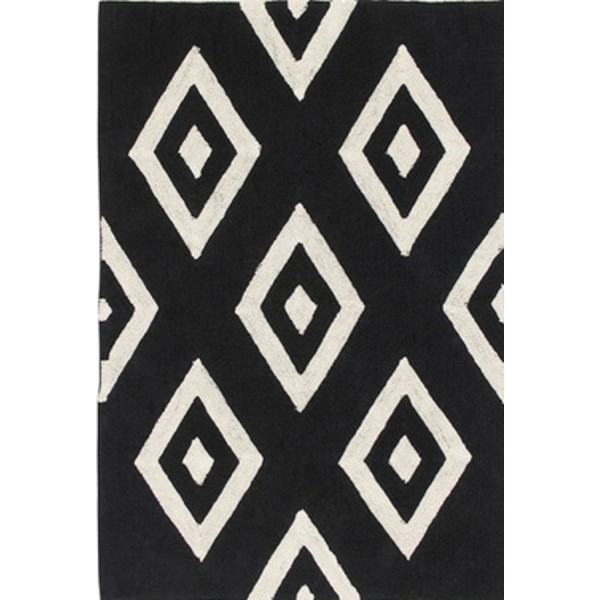 BLACK AND WHITE SCANDINAVIAN CARPET