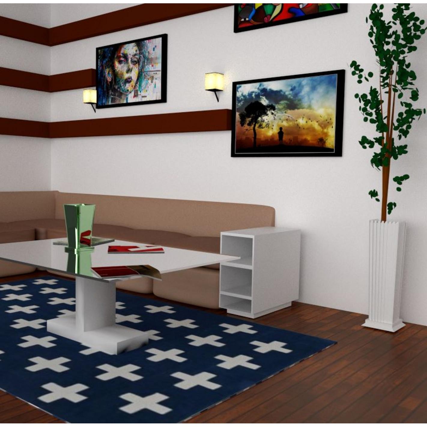 tapis kilim en laine bleu. Black Bedroom Furniture Sets. Home Design Ideas