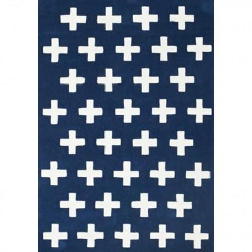 Tapis bleu