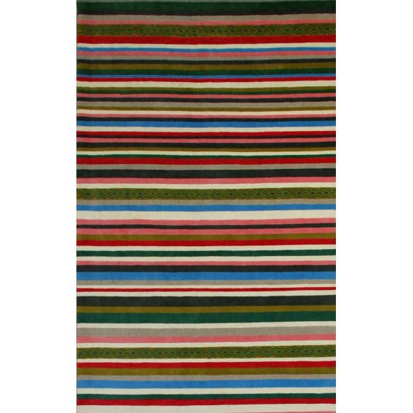 Tapis kilim rayé multicolore chic