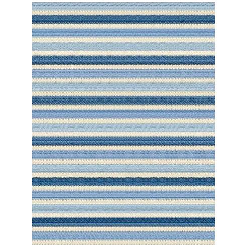 Tapis kilim rayé nuance bleu