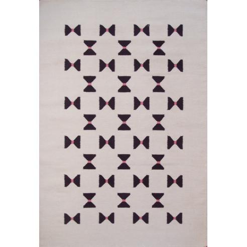Tapis kilim margoom motif violet