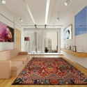 Chic multicolored rug