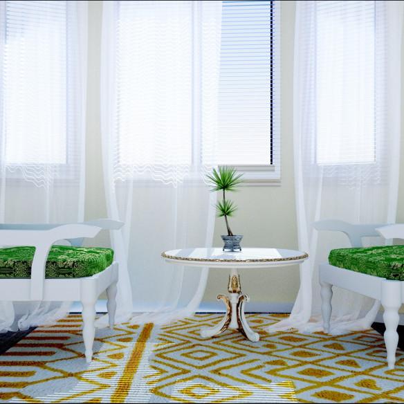 white and yellow berber carpet