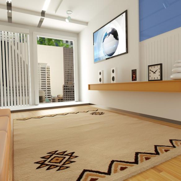 Berber carpet with pretty triangular patterns