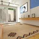 tapis berbère avec jolis motifs triangulaire