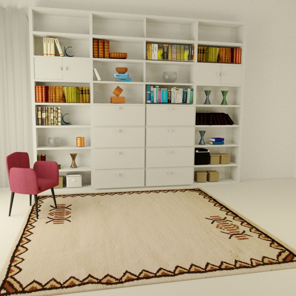Tapis berbère chic motif traditionnel