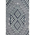 Margoom white rug with blue shade