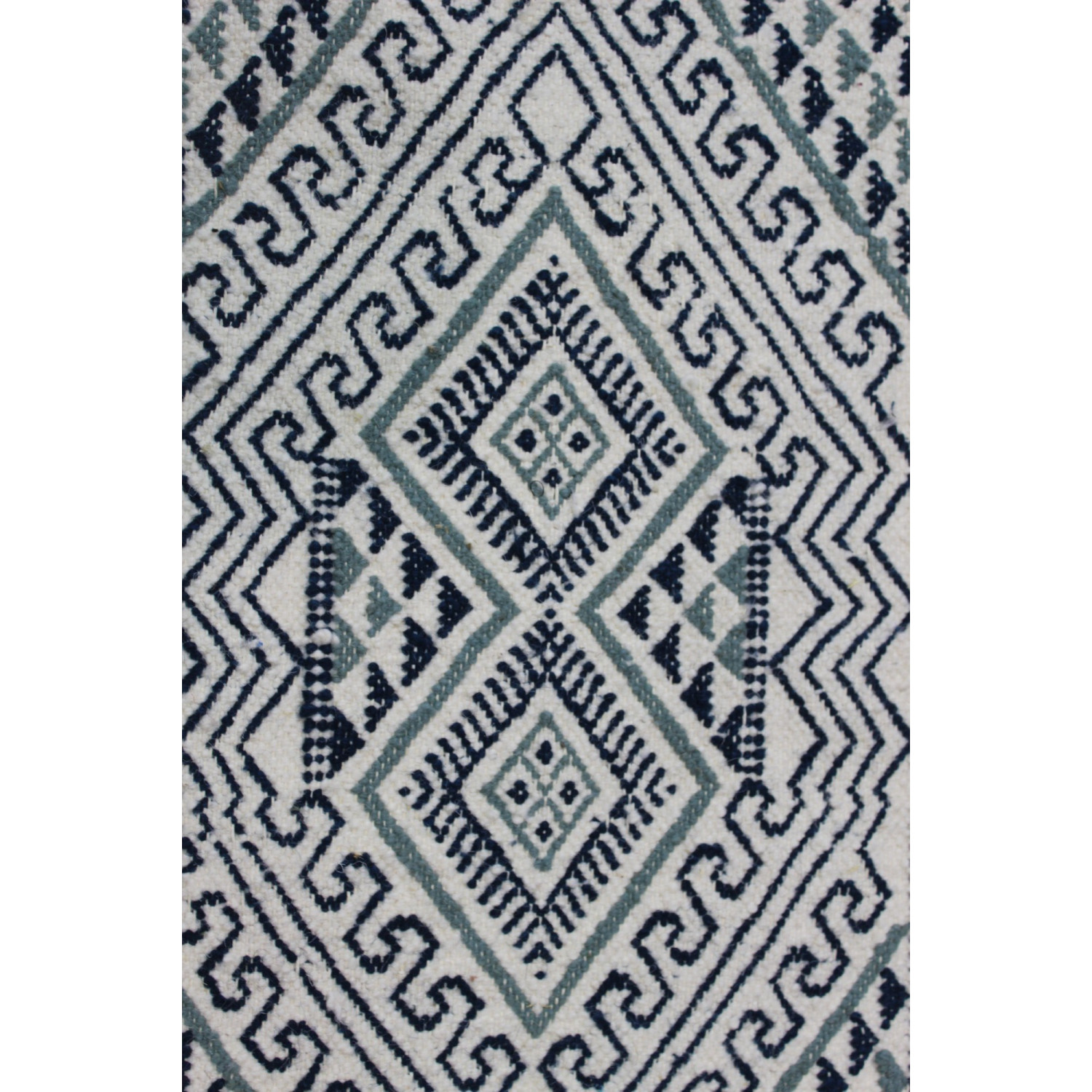 tapis blanc motif nuance bleu. Black Bedroom Furniture Sets. Home Design Ideas