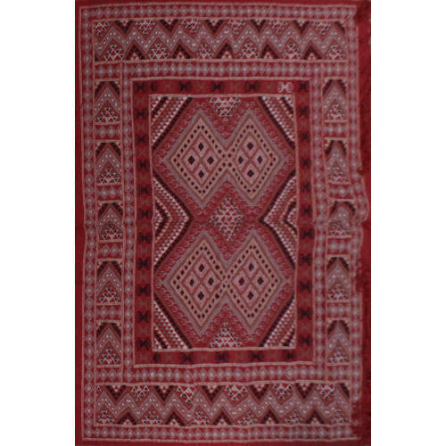 Tapis Margoom moderne Rouge motif losange