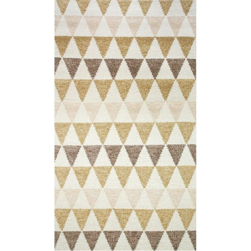 tapis scandinave triangulaire jaune et blanc. Black Bedroom Furniture Sets. Home Design Ideas