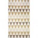 Scandinavian style rug triangular yellow and white