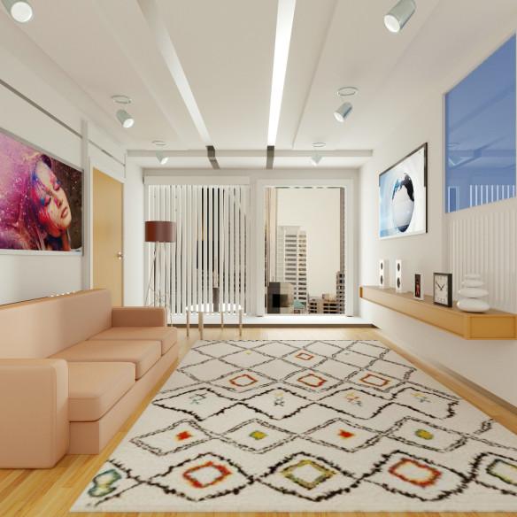 Tapis berbère intérieur multicolore
