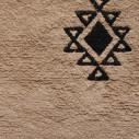 Tapis berbère grège avec jolis motifs noir