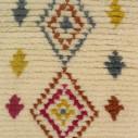 tapis berbère motif losange multicolore