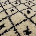 tapis berbère losange noir et blanc