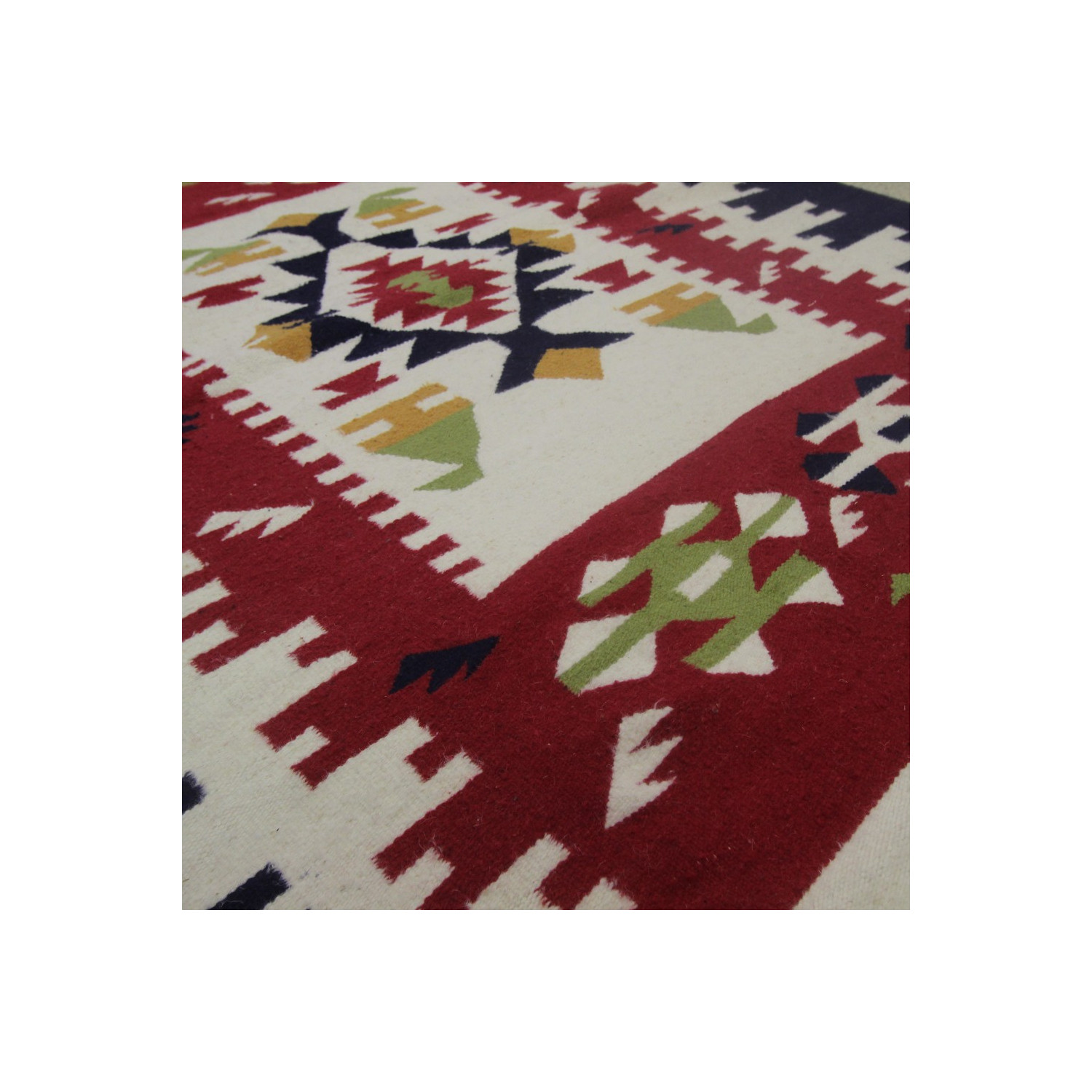 Tapis Kilim Contemporaine Color En Laine