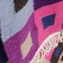 Tapis kilim multicolore motifs carré