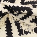Tapis scandinave Noir et blanc